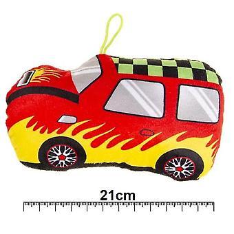 Plush Stuffed Bil för Barn med Hängande rep (Storlek 21cm)