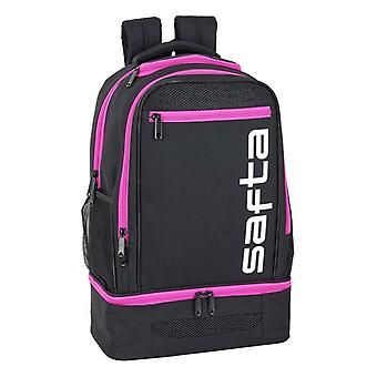 Borsa sportiva con porta scarpe Safta Black Pink (18 L)
