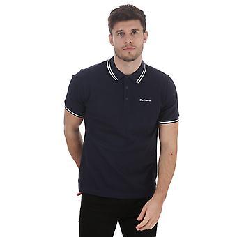 Men's Ben Sherman Twin Tipped Polo Shirt in Blue