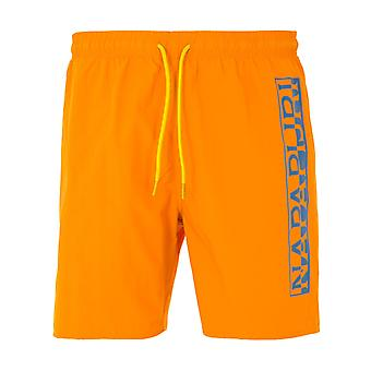 Napapijri Victor Logo Swim Shorts - Marmalade