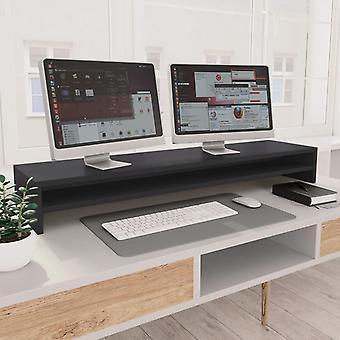 vidaXL Monitor Stand Harmaa 100×24×13 cm Lastulevy
