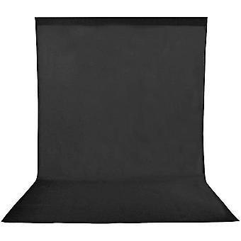 HanFei 1,8x2,8m/6x9ft Fotostudio Hintergrund Schwarz Reiner 100% Muslin Faltbare Hintergrund