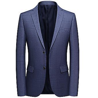 YANGFAN Men's Lapel Suit Jacket Two Button Blazer Coat