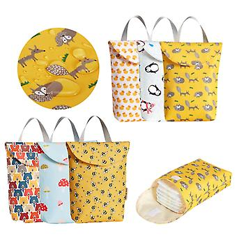Reusable Fashion Baby Diaper Bags Multifunctional Diaper Organizer Portable Big Waterproof Big Capacity Mummy Bag