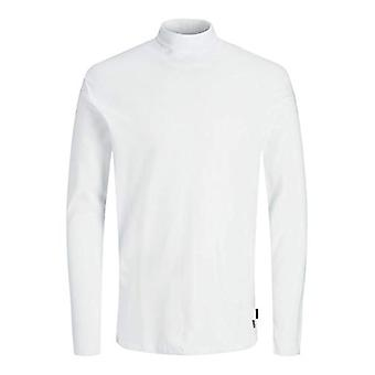 JACK & JONES JPRBLARAY T-Shirt LS Roll Neck T-Shirt, Weiß, XL Herren
