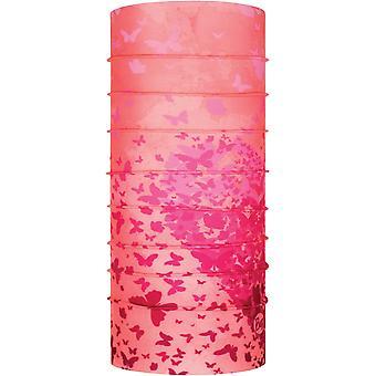 Buff Nouveau chauffe-cou Jnr original en rose papillon