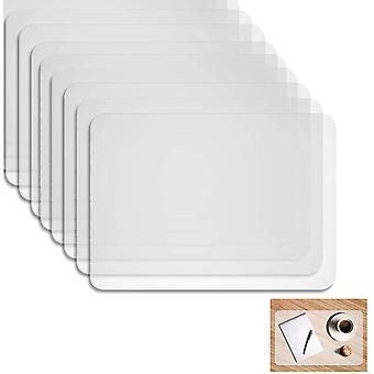 FengChun Kunststoff Platzdeckchen,Tischset Transparent abwaschbar,rutschfest Abwaschbar Tischsets 40