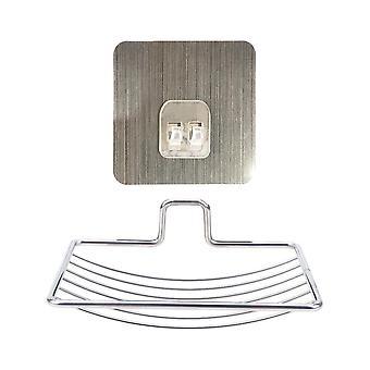 Bathroom Tray, Wall Storage Rack, Holder, Self Adhesive Steel Soap, Dish