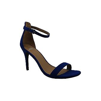 Material Girl Womens blaire Fabric Open Toe Ankle Strap Classic Pumps