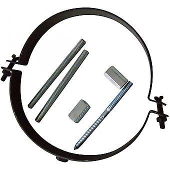 Rohrhalterung (Rohrschelle inklusive Schraubenset zur Montage, Halterung aus Stahl mit