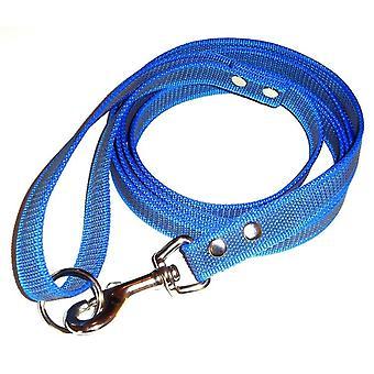 Anti-slip leash with handle, azure/black