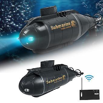 Submarino de controle remoto, barco elétrico inteligente, brinquedo de mergulho de simulação, peixes
