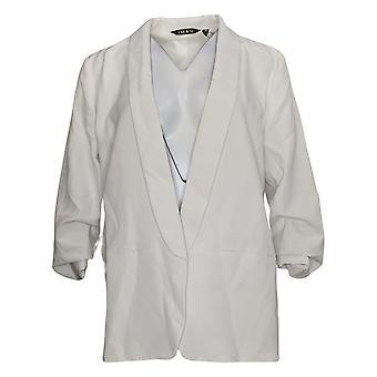 IMAN Global Chic Veste de costume pour femmes / Blazer Everyday White 740717