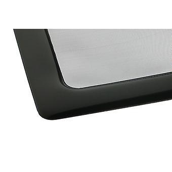 DEMCiflex Staubfilter 80mm Quadrat - Schwarz/Schwarz