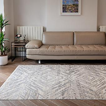 Onyx Onx01 Abstract Geometric Rugs In Silver Beige