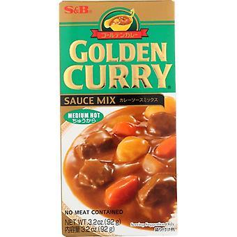 S & B Sauce Mix Medhot Gldn Cur, Case van 12 X 3.2 Oz