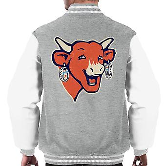 Den grinende Cow Modern Logo Mænds Varsity Jacket