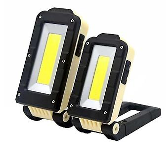COB LED Flashlight Magnetic Work Light USB Rechargeable Torch Folding Hook Tent(S)