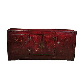Fine Asianliving Antikke kinesiske Skænk Håndmalet W162xD44xH74cm