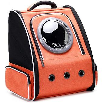 Cat Carrier Backpack Bubble, Space Capsule Pet Carrier Backpack For Small Dog And Puppy(Orange)