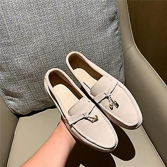 Comfortable Genuine Leather, Flat Shoes Set-2