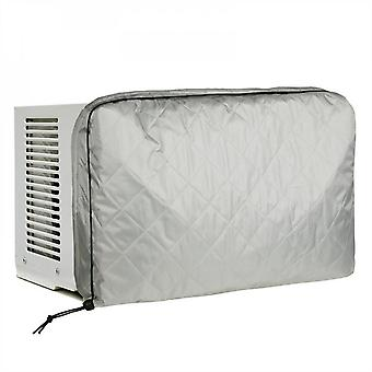 Evago Household Dust Cover Indoor Air Conditioner Cover, White Window Unit Cover Anti-rust Adjustable Cover For Indoor Window Ac With Free Elastic Str