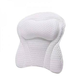 Premium Bath Pillow Quick-drying 4d Air Mesh Bathtub Spa Pillow 6non Slipsuction Cups Soft And Comfortable - Perfect For All Bathtub Hot Tub Jacuzzi S