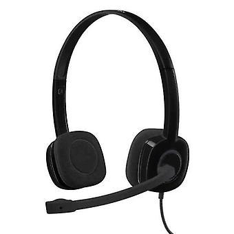 Headphones with Microphone Logitech H151 Black