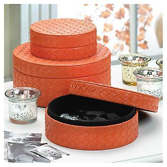 Accent Plus Orange Felt-Lined Keepsake or Gift Boxes, Pack of 1