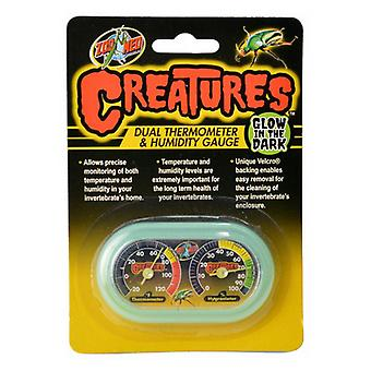 Zoo Med Creatures Dual Thermometer & Humidity Gauge - 1 Count
