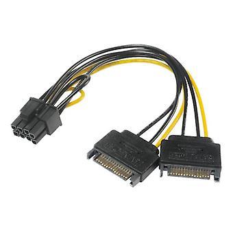 SATA-strøm til 6+2pin PCIe