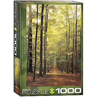 Jigsaw puzzles 1000pc forest path jigsaw puzzle