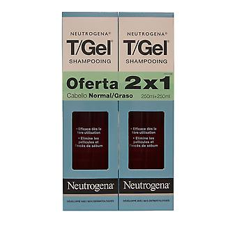 Neutrogena T/Gel Schuppen Shampoo Norm-ölig, Twin Pack 250 ml.