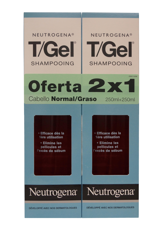 Neutrogena T/Gel Schuppen Shampoo Norm-ölig, Twin Pack 250 ml.
