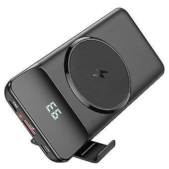 ワイヤレスパワーバンク10000 Mah、15w磁気パワーバンクPd 22.5wワイヤレス外部バッテリー、Ledディスプレイ搭載のワイヤレス外部バッテリーは、同時に3つのデバイスをサポートし、互換性