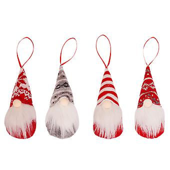 Boże Narodzenie Faceless Gnome Set Of 4 Xmas Tree Wiszące Ozdoba Dekoracja Wisiorek