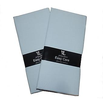 2 x Easycare Flat Cotbed Cot Sheets Polyester Cotton