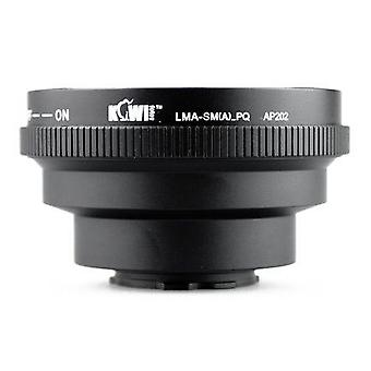 Kiwifotos Lens Mount Adapter with Aperture Control Ring: Allows Sony/Minolta AF Lenses to be used on the Pentax Q, Q10