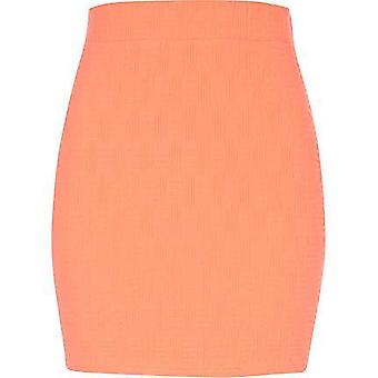 River Island Pink Basket Weave Textured Mini Skirt
