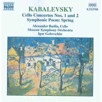 D. Kabalevsky - Kabalevsky: Cello Concertos Nos. 1 and 2; Symphonic Poem Spring [CD] USA import