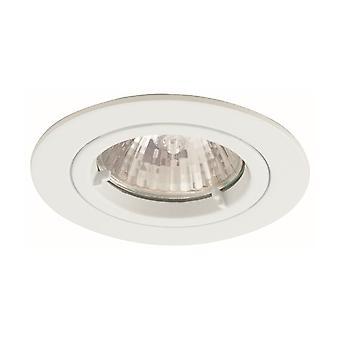 Ansell IP65 Twistlock GU10 White (Off Cream) Bathroom Downlight