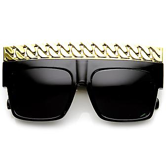 Mody odważne łańcuch Top placu gwiazdy okulary