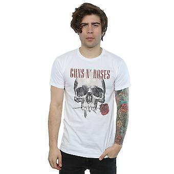 Guns N Roses Men's Flower Skull T-Shirt