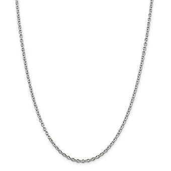 925 plata esterlina 2.75mm collar de cadena de cable - longitud: 16 a 36