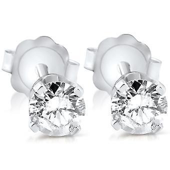 3 / 8ct Diamant Ohrstecker 14K White Gold