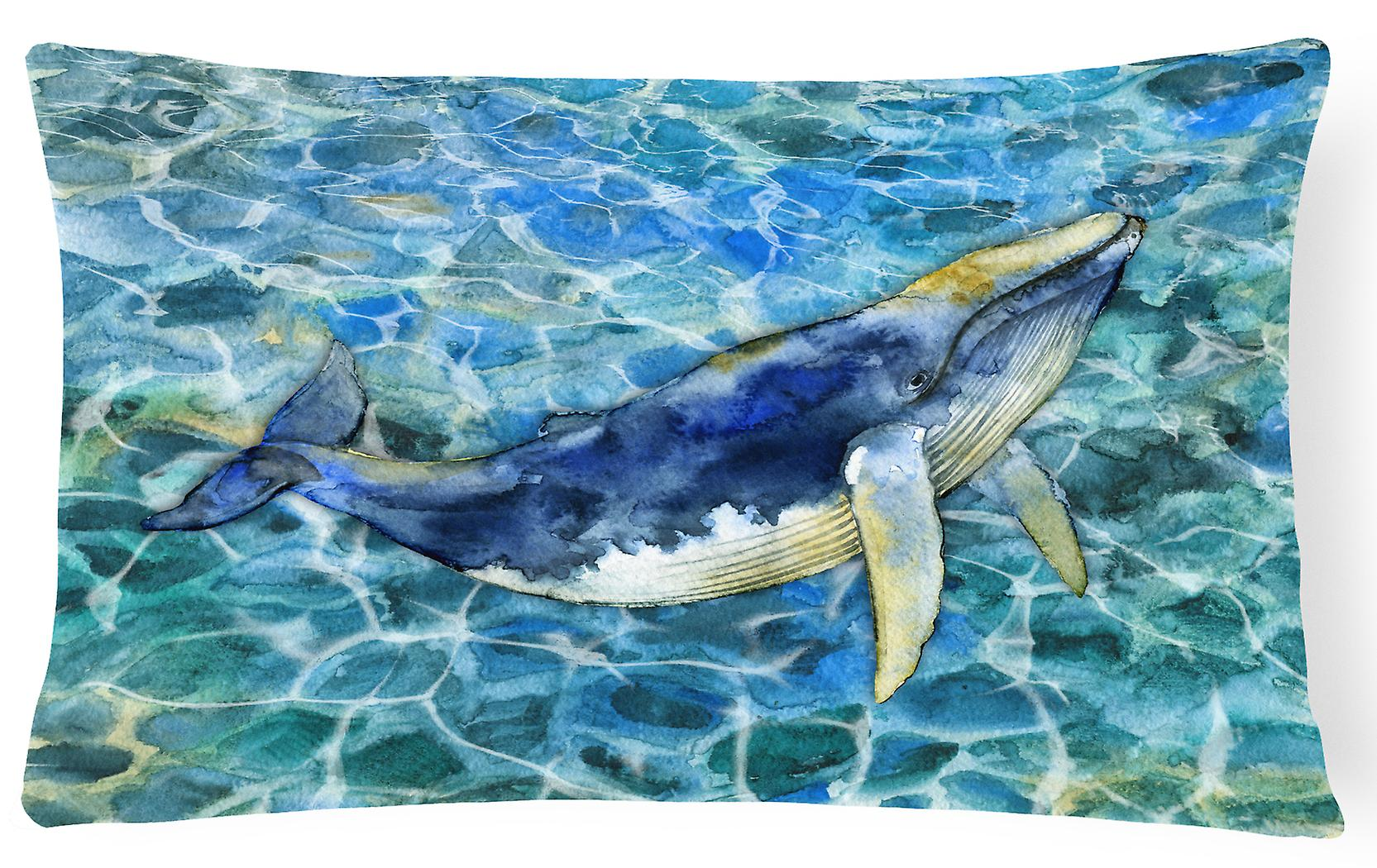 Carolines Treasures Bb5336pw1216 Humpback Whale Canvas Fabric Decorative Pillow Fruugo Uk