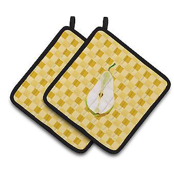 Carolines tesoros BB7244PTHD rebanada de pera en usa par de agarraderas