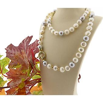 Collana di perle d'acqua dolce con serratura dell'oro