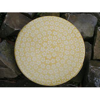 Kek tabağı, 33 x 3 cm, Bunzlau sarısı, BSN J-979