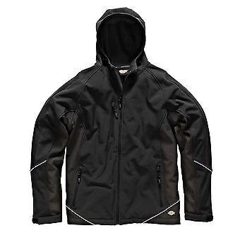 Dickies Mens Workwear Two Tone Softshell Jacket Black JW7010B
